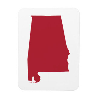 Alabama in Red Magnet