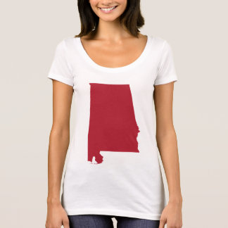 Alabama in Red T-Shirt