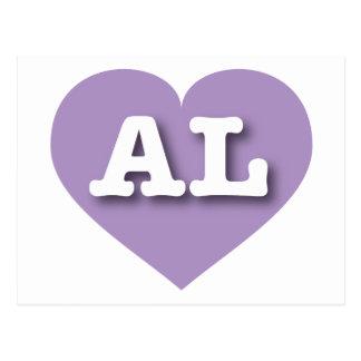 Alabama lavender heart - Big Love Postcard