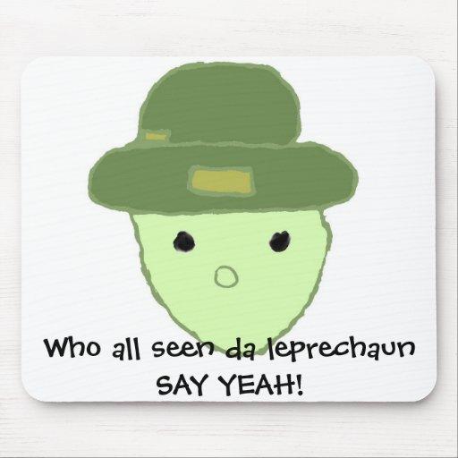 4 clovers and leprechaun in alabama meme funny