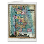 Alabama Map and State Flag Greeting Cards