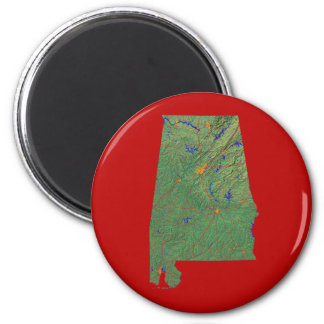 Alabama Map Magnet