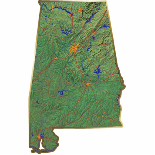 Alabama Map Magnet Cut Out