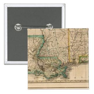 Alabama, Mississippi, Louisiana 15 Cm Square Badge