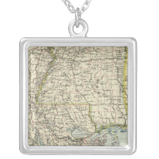 Alabama, Mississippi, Louisiana, Arkansas Silver Plated Necklace
