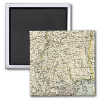Alabama, Mississippi, Louisiana, Arkansas Square Magnet