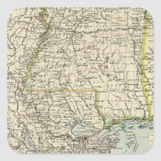Alabama, Mississippi, Louisiana, Arkansas Square Sticker
