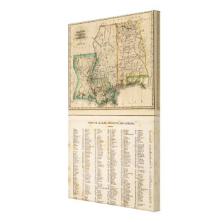 Alabama, Mississippi, Louisiana Canvas Print