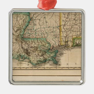 Alabama, Mississippi, Louisiana Christmas Ornament