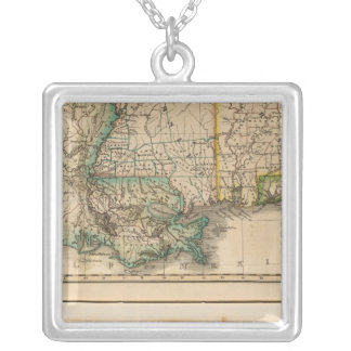 Alabama, Mississippi, Louisiana Silver Plated Necklace