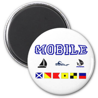 Alabama Mobile 1 6 Cm Round Magnet