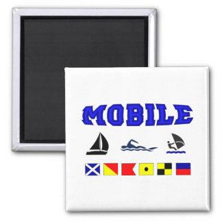Alabama Mobile 2 Square Magnet