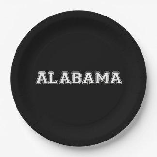 Alabama Paper Plate