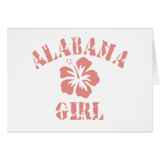 Alabama Pink Girl Greeting Card