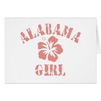 Alabama Pink Girl Greeting Card