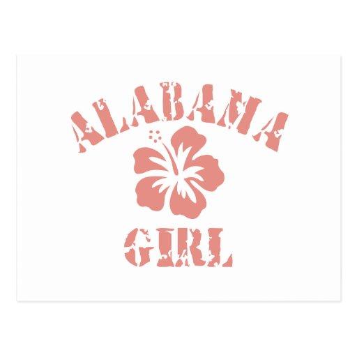 Alabama Pink Girl Postcards