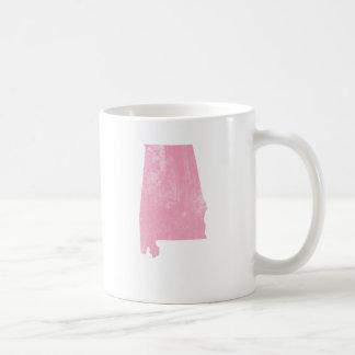 Alabama - Pink Vintage Grunge Basic White Mug