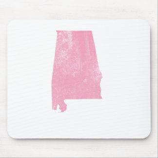Alabama - Pink Vintage Grunge Mouse Pads