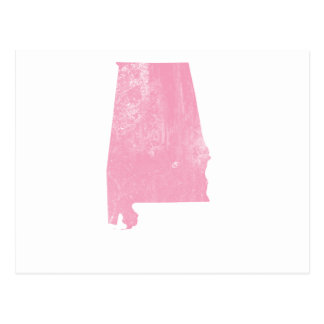Alabama - Pink Vintage Grunge Postcard