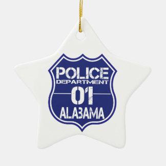 Alabama Police Department Shield 01 Ceramic Star Decoration