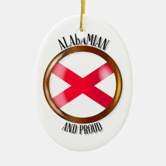 Alabama Proud Flag Button Ceramic Oval Decoration