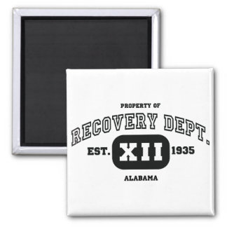 ALABAMA Recovery Square Magnet
