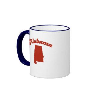 ALABAMA Red State Ringer Coffee Mug