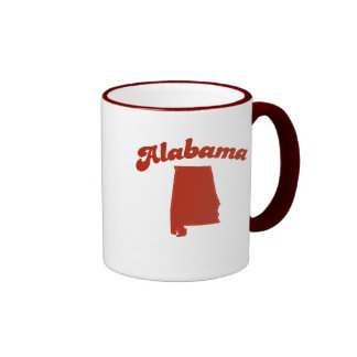 ALABAMA Red State Ringer Mug