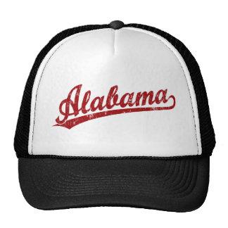 Alabama script logo in red cap