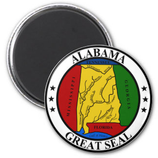 Alabama seal united states america flag symbol rep magnet