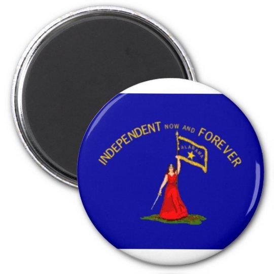 alabama secession flag 6 cm round magnet