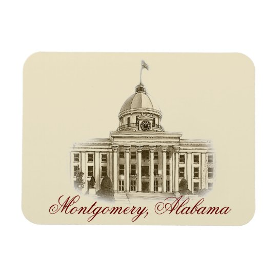 Alabama State Capital Flexible Magnet