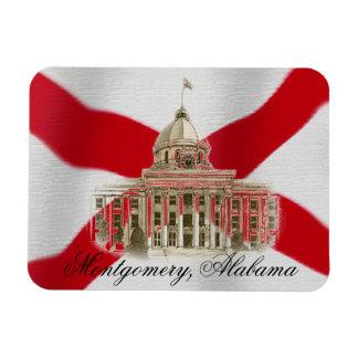 Alabama State Capital Flexible Magnet