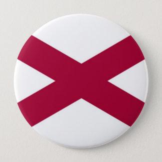 Alabama State Flag 10 Cm Round Badge