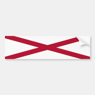 Alabama State Flag Bumper Sticker