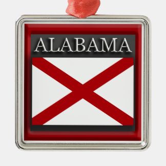 Alabama State Flag Christmas Ornament