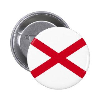 Alabama State Flag Design 6 Cm Round Badge