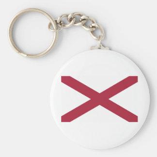 Alabama State Flag Key Ring