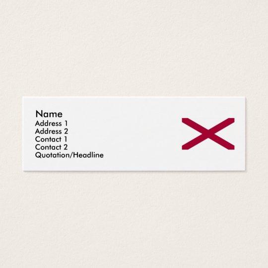 Alabama State Flag Mini Business Card