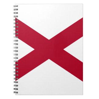 Alabama State Flag Spiral Notebooks