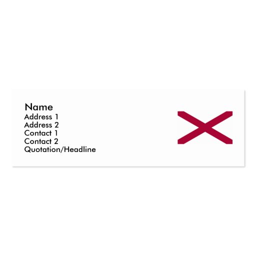 Alabama State Flag Pack Of Skinny Business Cards