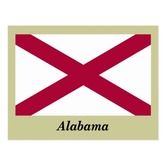 Alabama State Flag Postcard
