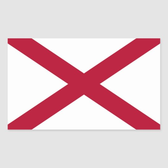Alabama State flag Rectangular Sticker