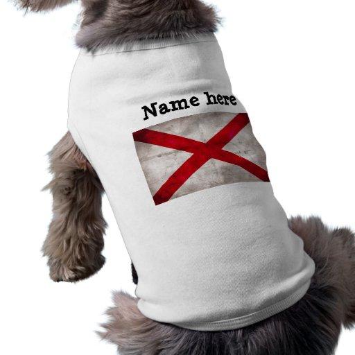 Alabama State Flag Sleeveless Dog Shirt