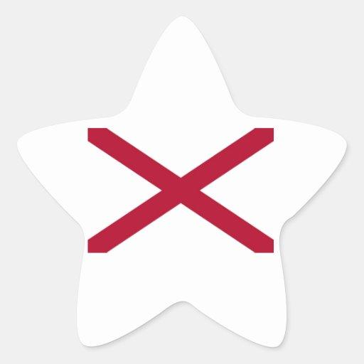 Alabama State Flag Star Sticker