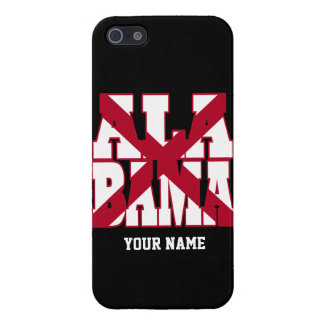 Alabama state flag text iPhone 5 cover
