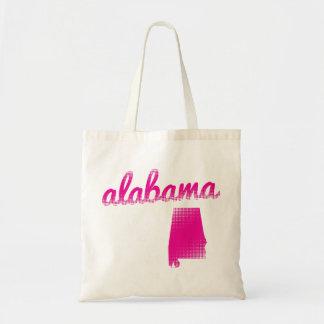 Alabama state in pink tote bag