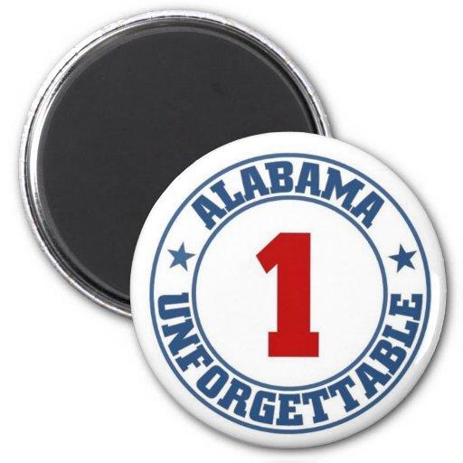 Alabama State Fridge Magnet