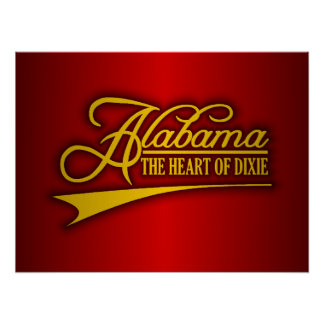 Alabama State of Mine Poster