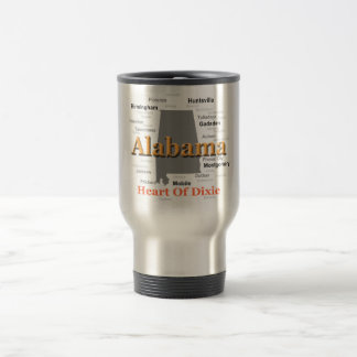 Alabama State Pride Map Silhouette Coffee Mug